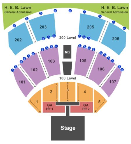 Austin360 amphitheater tickets and austin360 amphitheater seating