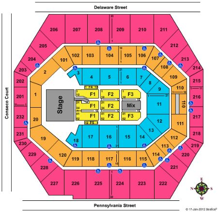Bankers Life Fieldhouse Seating Chart Alure Spa