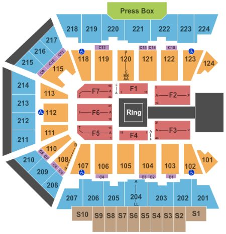 Bmo harris bank center tickets and bmo harris bank center seating