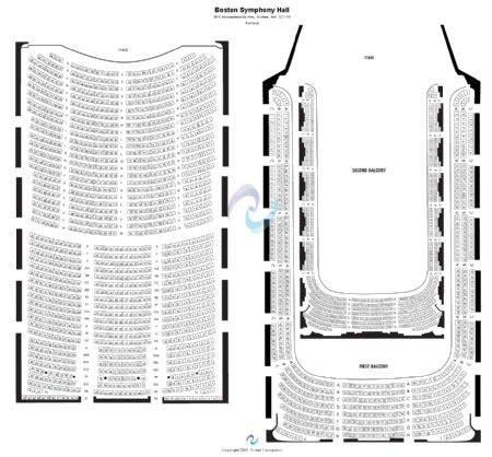 Boston symphony hall tickets and boston symphony hall seating chart