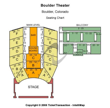 Boulder theater tickets and boulder theater seating chart buy