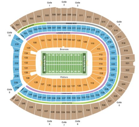Sports Authority Field At Mile High Tickets And Sports Authority