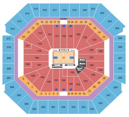 Bud Walton Arena Tickets And Bud Walton Arena Seating Chart