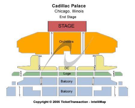 Cadillac palace tickets and cadillac palace seating chart buy