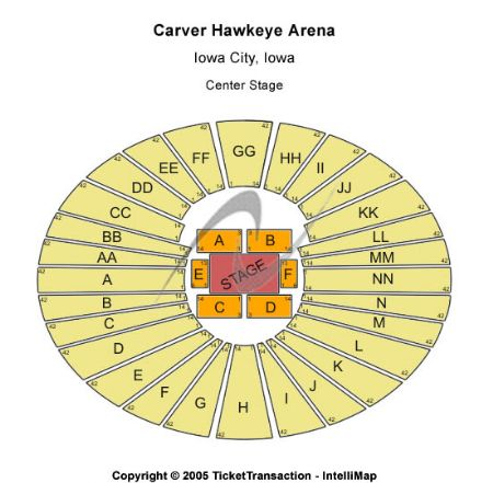 Carver Hawkeye Arena Tickets And Carver Hawkeye Arena Seating Chart