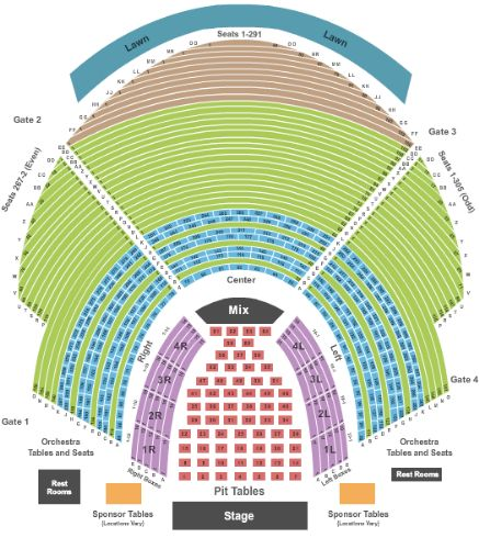 Chastain park amphitheatre tickets and chastain park amphitheatre