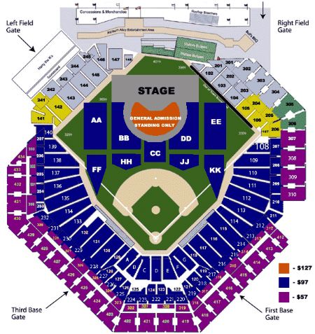 Citizens bank park tickets and citizens bank park seating chart