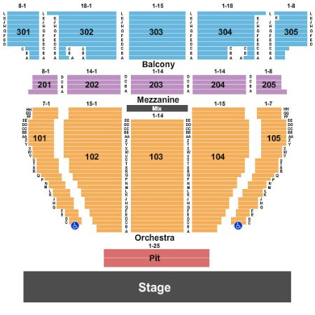 Crown Theatre Seating Map Perth