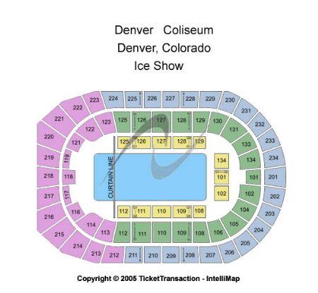 Denver coliseum tickets and denver coliseum seating chart buy