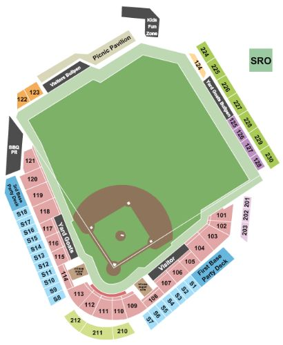 Dunkin Donuts Park Tickets And Dunkin Donuts Park Seating Chart
