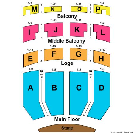 Embassy Theatre Tickets And Embassy Theatre Seating Chart Buy