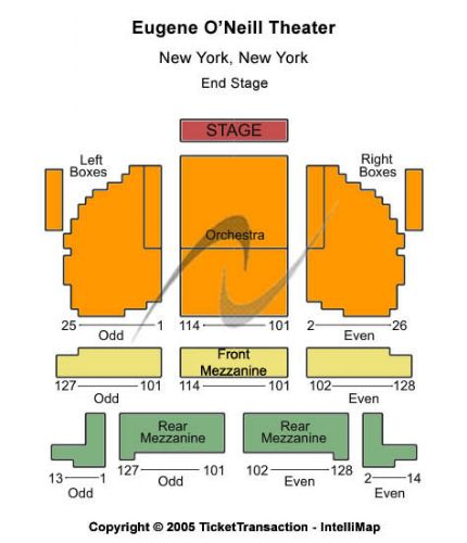 Eugene Oneill Theatre Tickets And Eugene Oneill Theatre Seating