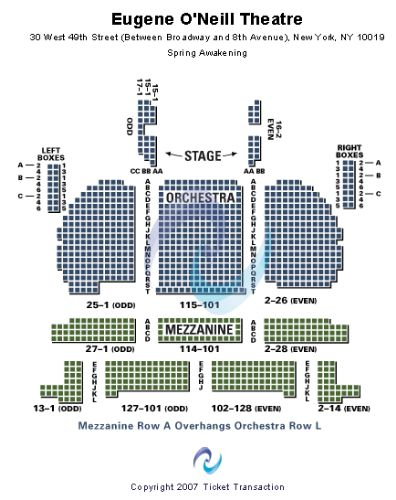Eugene O Neill Theater Nyc Seating Chart Best Picture Of Chart