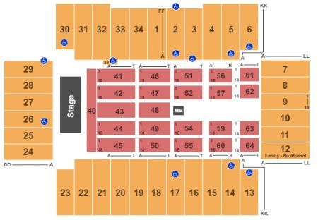 Fargodome Seating Map Fargodome Tickets and Fargodome Seating Chart   Buy Fargodome