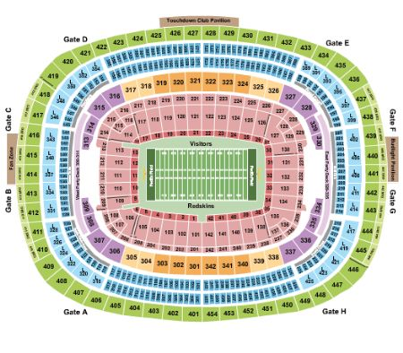 Fedex field tickets and fedex field seating chart buy fedex field