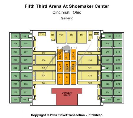 Fifth third arena tickets and fifth third arena seating chart buy