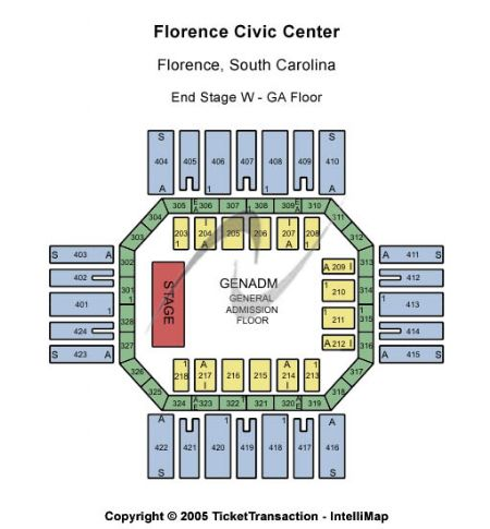 Florence Civic Center Tickets And Seating Chart Sc At Stub