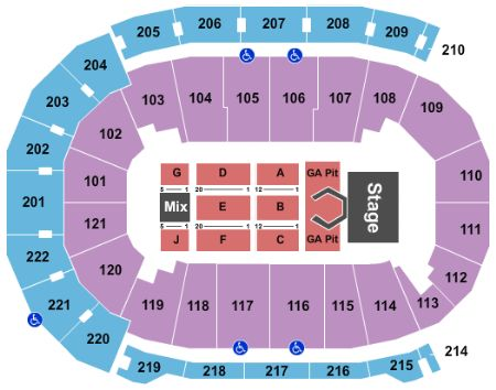 Ford Center Seating Chart With Rows