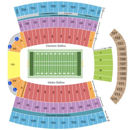 Clemson Stadium Map | compressportnederland on
