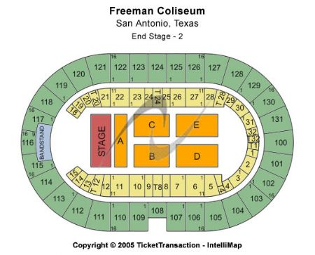 Freeman Coliseum Tickets And Freeman Coliseum Seating