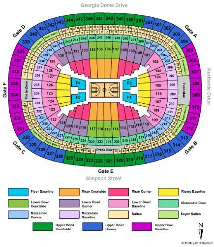 Georgia Dome Seat Map Georgia Dome Seat Map | compressportnederland Georgia Dome Seat Map