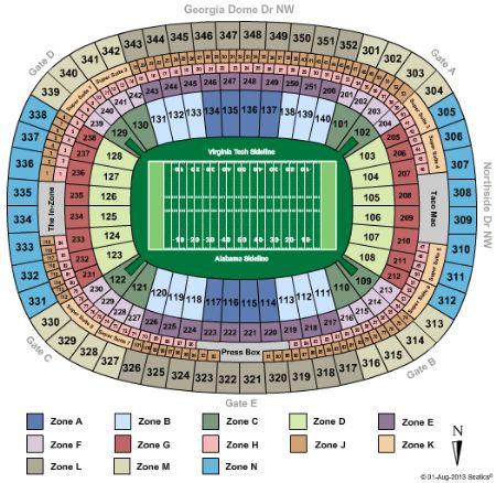Georgia Dome Tickets And Georgia Dome Seating Chart Buy Georgia