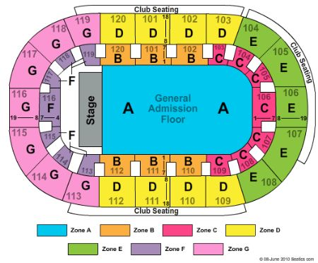 Germain Arena Tickets And Germain Arena Seating Chart