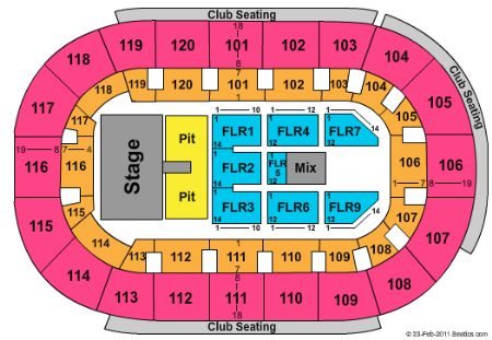 Germain arena tickets and germain arena seating chart buy