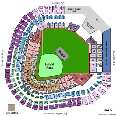 Globe life park tickets and globe life park seating chart buy