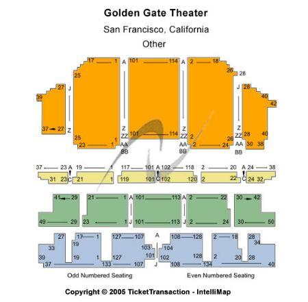 Golden Gate Theatre Tickets And Golden Gate Theatre