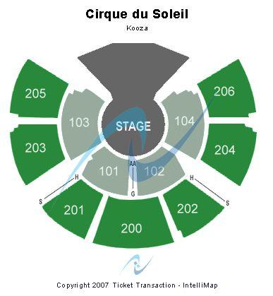 Cirque Du Soleil Kurios Seating Chart Seattle