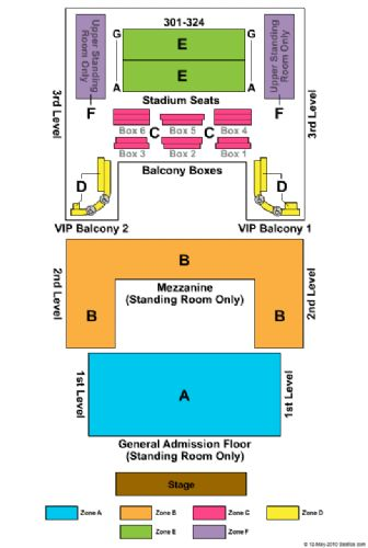 House of blues tickets and house of blues seating chart buy house