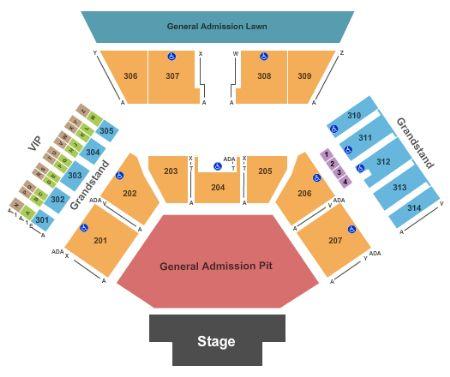 Phish Northerly Island Seating Chart