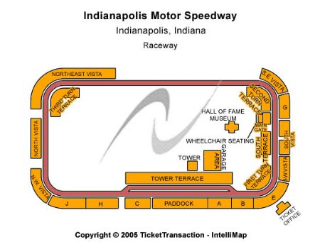 Indianapolis motor speedway track map for Kansas motor speedway tickets