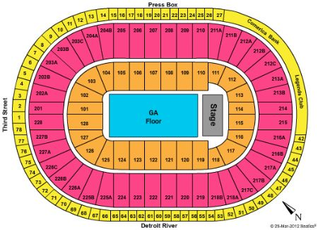 Joe Louis Arena Tickets And Joe Louis Arena Seating Chart Buy Joe