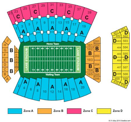 Lane stadium tickets and lane stadium seating chart buy lane