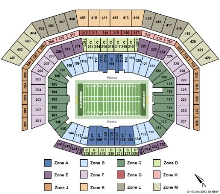 Levis Stadium Capacity >> Levi'stadium Tickets and Levi'stadium Seating Chart - Buy ...