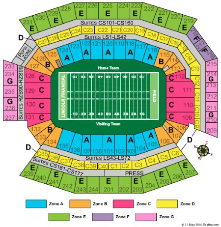 Lincoln financial field tickets and lincoln financial field seating