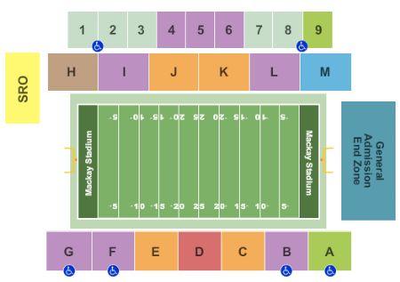 Mackay Stadium Tickets And Mackay Stadium Seating Chart