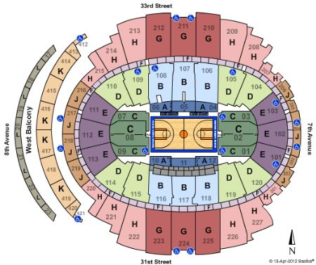 Madison Square Garden Tickets and Madison Square Garden Seating – Madison Square Garden Floor Plan