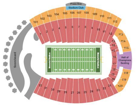 Memorial Stadium Seating Chart