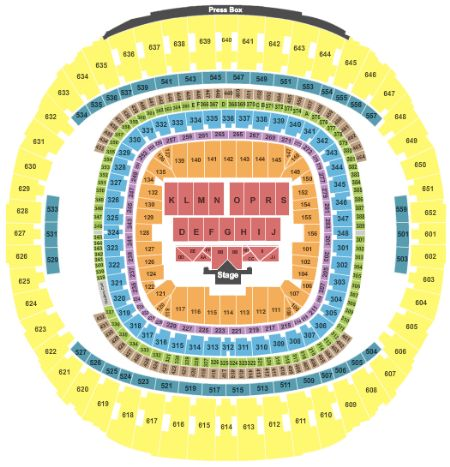 Mercedes Benz Superdome Seating Chart For Essence Music Festival  U003e Credit  To ...