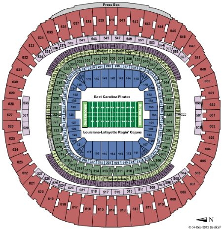 Mercedes Dome New Orleans Seating Chart