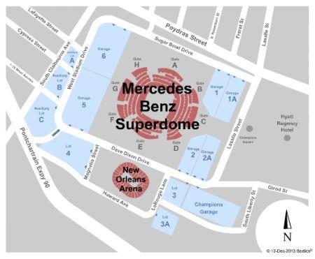 Mercedes Benz Superdome Parking Lot Tickets And Mercedes Benz