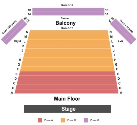 Mercury Theater Tickets And Mercury Theater Seating Chart