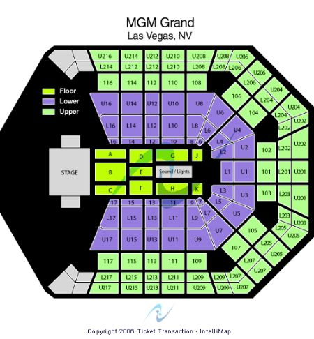 Mgm Grand Garden Arena Tickets And Mgm Grand Garden Arena Seating Chart Buy Mgm Grand Garden