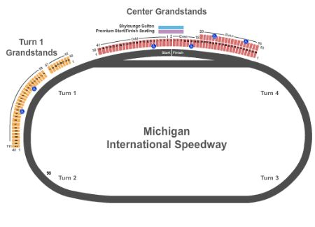 Venue Map General Admission Capacity N A Michigan International Sdway Tickets