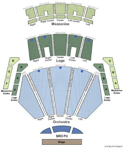 microsoft center seating chart