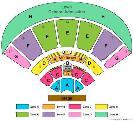 amphitheater tampa seating chart: Midflorida credit union amphitheatre at the florida state