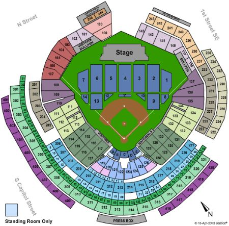 Nationals Park Tickets And Nationals Park Seating Chart